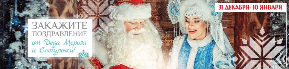 Закажите поздравление от Деда Мороза и Снегурочки!